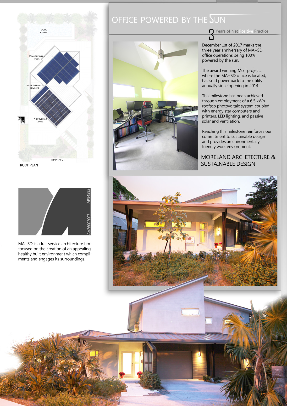 S D Home Design Llc Part - 35: MA+SD Is Celebrating Our Third Anniversary Of Office Operations Being 100%  Powered By The Sun. Click On The Image To The Right To Find Out More.